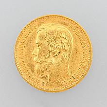 Gold coin, 5 rubles, Russland 1898