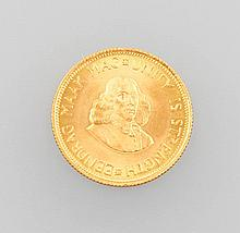 Gold coin, 2 Rands, South Africa, 1967