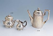 Silver 950 sugar bowl and milk jug, France, approx. 1900s