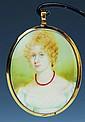 Miniaturmalerei, England, um 1810, Porträt einer