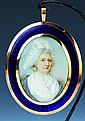 Miniaturmalerei, England, um 1800, Porträt einer