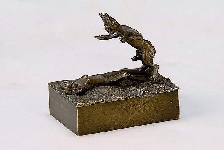 Wiener Bronze, Erotika, L.4.5 cm, H.2.5 cm