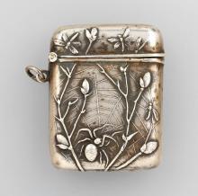 Matchstick case, german 1900, 800 silver,