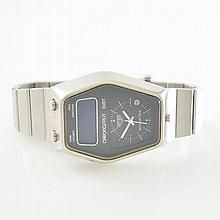 HEUER CHRONOSPLIT GMT wristwatch, Switzerland around 1975