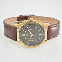 GHC 18k yellow gold chronograph, Switzerland around 1950
