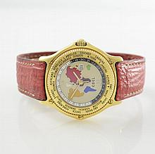 EBEL rare 18k yellow gold gent's wristwatch Atlas