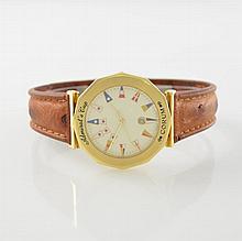 CORUM 18k yellow gold gent's wristwatch Admiral`s Cup