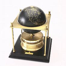 World-time table clock made by Royal Geographical Society
