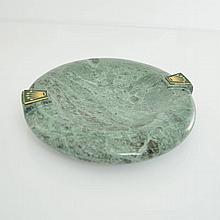 ROLEX green marble ashtray, reference RMA 210 -V
