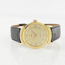 OMEGA rare 14k yellow gold gent's wristwatch Seamaster