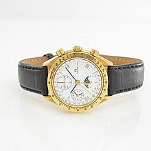OMEGA astronomical 18k yellow gold gent's wristwatch