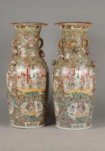 Pair of big palace vases, China, 20th century.,