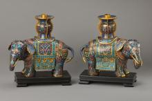 A pair of candlesticks, China,