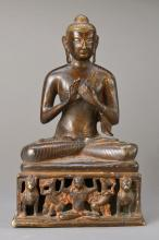 Buddha, probably Laos / Thailand, 18/19th C., Bronze,
