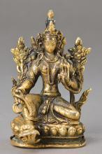 Sculpture, Western Tibet, 19th c., Bronze,