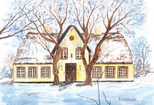 Horst Lewandowski, 1921-2012, watercolor