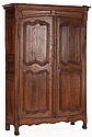 A FRENCH PROVINCIAL CARVED OAK ARMOIRE  19th century 88