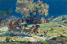 MARJORIE JANE REED (American, 1915-1996) Leaving Warner