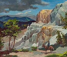 OLAF WIEGHORST (American, 1899-1988) Mammoth Hot Spring