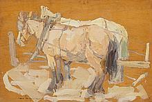 LEON GASPARD (Russian/American, 1882-1964) Harnessed Ho
