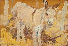 LEON GASPARD (Russian/American, 1882-1964) Burro Oil on