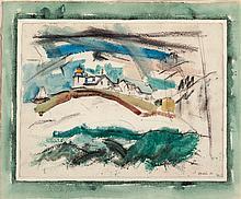 JOHN MARIN (American, 1870-1953) Lighthouse, Stonington