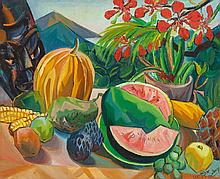 LOIS MAILOU JONES (American, 1905-1998) Still Life with