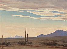MAYNARD DIXON (American, 1875-1946) Desert Sky at Eveni