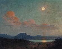 WILLIAM ROBINSON LEIGH (American, 1866-1955) Desert Wat