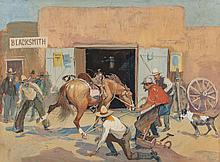 OSCAR EDWARD BERNINGHAUS (American, 1874-1952) Horse Sh