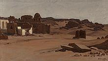 ELIHU VEDDER (American, 1836-1923) Modern Tombs, Aswan,