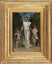 ABBOTT HANDERSON THAYER (American, 1849-1921) Prelimina
