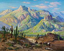 FRED GRAYSON SAYRE (American, 1879-1939) On the Cactus