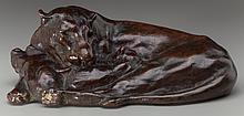 ANNA HYATT HUNTINGTON (American, 1876-1973) Lioness and