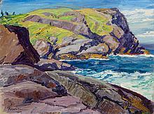 ARTHUR WESLEY DOW (American, 1857-1922) A Maine Headlan