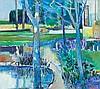 ROBERT AARON FRAME (American, 1924-1999) Landscape with, Robert Aaron Frame, $1,500