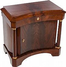 A CLASSICAL REVIVAL MAHOGANY BEDSIDE TABLE, 19th centur