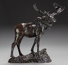 HENRY MERVIN SHRADY (American, 1871-1922) Bull Moose, c
