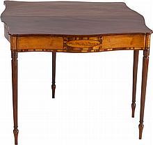 A SHERATON-STYLE MAHOGANY PIER TABLE, 19th century, pos