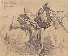 MAYNARD DIXON (American, 1875-1946) For Cowboy's Saddle