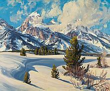 CONRAD SCHWIERING (American, 1916-1986) Winter Landscap