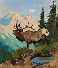 CARL CLEMENS MORITZ RUNGIUS (American, 1869-1959) Elk i