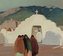 VICTOR HIGGINS (American, 1884-1949) The White Gate, 19