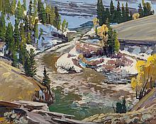 CONRAD SCHWIERING (American, 1916-1986) Mountain Stream