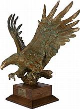 SANDY SCOTT (American, b. 1943) Maquette for Bald Eagle