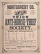 MONTGOMERY CO. UNION ANTI-HORSE THIEF SOCIETY  19th cen