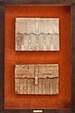 FRAMED ITALIAN FOLIOS 16th century 45-1/4 x 30-1/4 inch