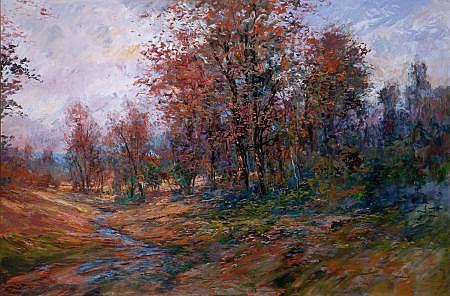 MICHAEL SCHOFIELD (American, b.1947) Autumn Landscape O