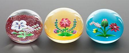 A GROUP OF THREE BACCARAT CASED GLASS LIMITED EDITION P