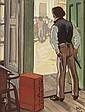 MAYNARD DIXON (American, 1875-1946) Defending His Bount
